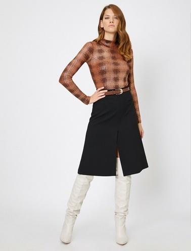 Koton Skirtly Yours Styled By Melis Agazat Etek Siyah